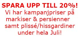 Rea markiser och persienner under hela Juli Stockholm